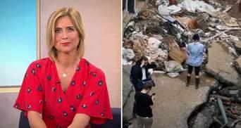 Німецька ведуча вимазала себе брудом для сюжету про повені й втратила роботу: скандальне відео