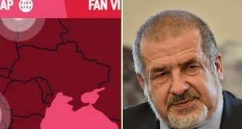 России не нравится Крым на карте Украины на Олимпиаде: Чубаров напомнил Москве о Курилах