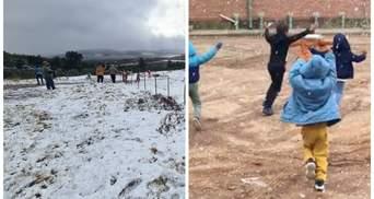 Поки в Україні спека: Африку засипав сніг, морози б'ють рекорди – відео