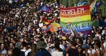 """У Будапешті пройшов багатотисячний мітинг проти закону про """"ЛГБТ-пропаганду"""": фото, відео"""