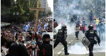 Мітинги з іконами в Греції та криза в Колумбії: у світі не вщухають протести через COVID-19