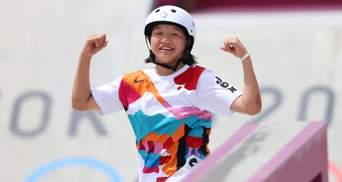 """Історичний момент: 13-річна японка виграла """"золото"""" Олімпіади зі скейтбордингу"""