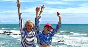 Лидия Таран с дочкой во Франции: новое фото телеведущей из отпуска