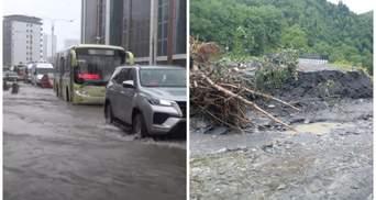Грузію накрила злива: Батумі залило, піднявся рівень води в річках – фото, відео