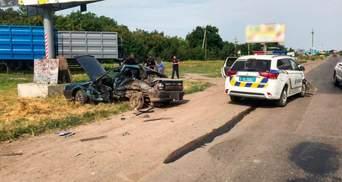 Авто смяло: на Николаевщине в ДТП попала машина полиции