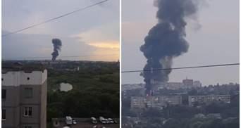 Аварія в Рівному позбавила світла частину міста: відео масштабної пожежі