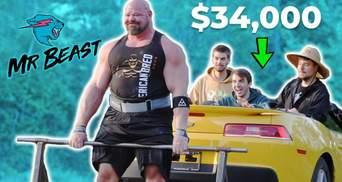 Стронгмен Браян Шоу проміняв штангу на Chevy Camaro у становій тязі: відео божевільного виклику