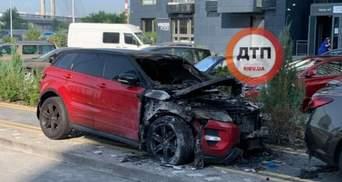 У Києві спалили Range Rover відомої блогерки: фото