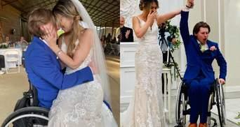 Паралізований наречений встав з візка для першого танцю: як друзі допомогли влаштувати сюрприз