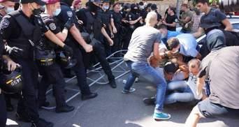 Под Офисом Президента возникли столкновения, была акция ЛГБТ-сообщества: фото, видео