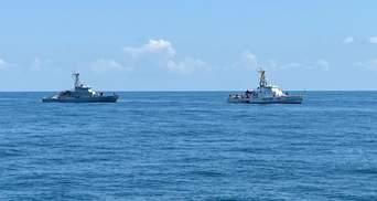 Украинский катер типа Island прошел учения возле побережья Грузии