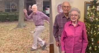 89-річний дідусь щоразу біжить за машиною онуки: жінка поділилася зворушливою традицією – відео