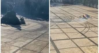 Дрифтеры Red Bull с Софийской площади поехали доснять ролик на Кольцевую дорогу