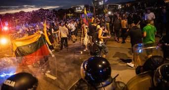 На протестах антивакцинаторів у Литві трапилися сутички: є постраждалі – відео
