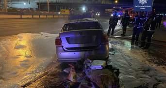 Пьяный киевлянин убегал с места ДТП на авто, которое загорелось: фото