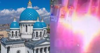 В России мужчина поджег себя прямо в церкви: видео 18+