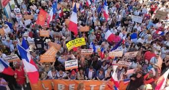 Во Франции вновь проходят масштабные митинги против паспортов здоровья: видео