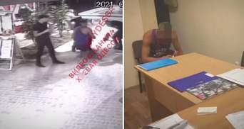 Ударил кулаком бойца Нацгвардии в Одессе: появились видео нападения и подробности