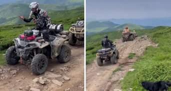 Польские туристы на квадроциклах хотели заехать на гору Петрос: украинцы помешали – видео