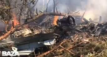 У Росії розбився військовий літак: момент падіння потрапив на відео