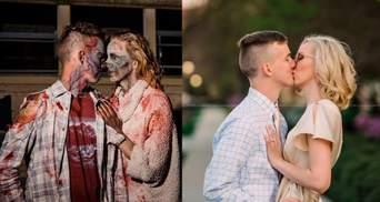 Незнакомцы поженились после фотосессии в стиле зомби: как необычный фотопроект создал семью