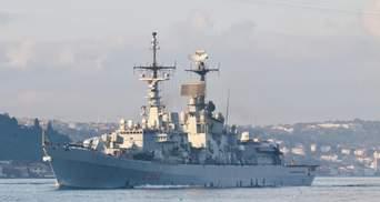 Ракетный эсминец ВМС Италии вошел в Черное море