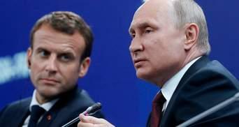 Обсудили Украину: Макрон и Путин пообщались по телефону