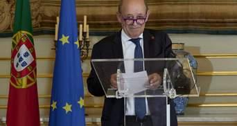 Главный дипломат Франции посетит Украину ко Дню Независимости