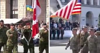 В параде ко Дню Независимости приняли участие военные из стран-партнеров