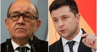 Давление на Россию должно сохраняться: Зеленский провел разговор с главой МИД Франции