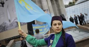 """""""Мы хотим домой"""": крымчане устроили перформанс об оккупации в центре Киева"""