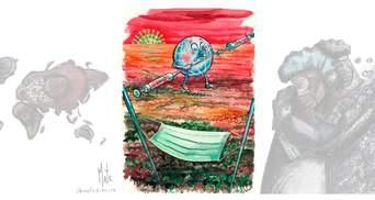 Украинский художник победил на международном конкурсе карикатур о коронавирусе