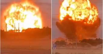 Мощный взрыв в Казахстане на военном объекте: жуткое видео