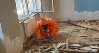 Во Львове под школьным полом нашли разлитую ртуть: фото с места происшествия