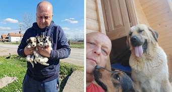 Здійснив мрію матері: чоловік із Сербії врятував понад 1000  собак та вовків