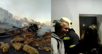 У Києві спалахнув бізнес-центр: рятувальники витягнули дівчинку з заблокованого ліфту