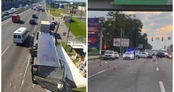 На Киевщине майор полиции на легковушке влетел в грузовик: вероятно был пьян