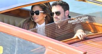Дженнифер Лопес и Бен Аффлек вместе прибыли на Венецианский кинофестиваль
