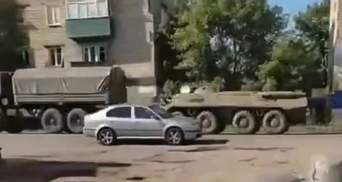 В окупований Донецьк заїхала колона російської техніки: відео від очевидців