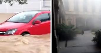 Юг Франции затопило после сильных ливней: ужасные видео потопа