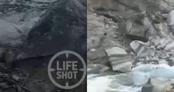 В России ледник упал на туристов: есть жертвы