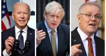 У світі з'явився новий військовий альянс: для чого США, Британія й Австралія створили AUKUS