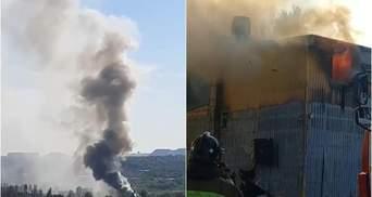 Пожар в оккупированном Донецке уничтожил цех по производству воды: видео с места происшествия