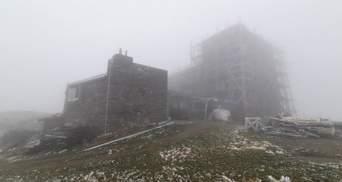 Зима вже близько: температура в українських Карпатах опустилася до 0 градусів