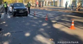 В Херсоне водитель наехала на женщину с 8-летним мальчиком: видео с места ДТП