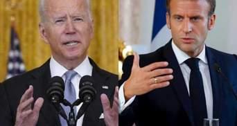 Байден позвонит Макрону: США не откажутся от сделки с Австралией на фоне скандала
