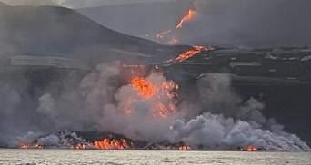 Над Канарами уже сформировались токсичные облака: раскаленная лава в океане – жуткие фото, видео