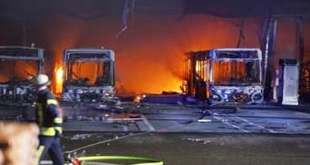 В Штутгарте загорелась автостанция: фото и видео масштабного пожара