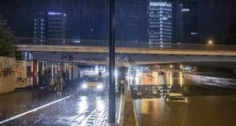 Аномальный ливень затопил улицы столицы Словении