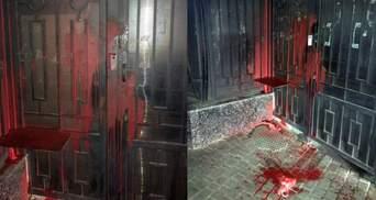 """""""Разрисованное"""" консульство России в Одессе задержали подозреваемого в хулиганстве"""